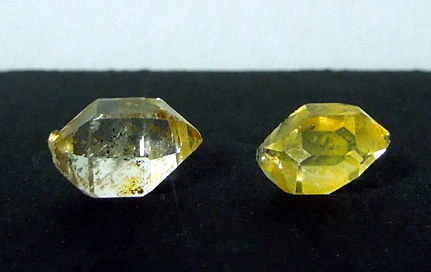 Both crystals are double terminated.