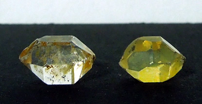 Two small Herkimer crystals.