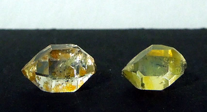 Crystals measure 12x7 mm.