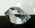 Brilliant Herkimer Diamond with a fluid filled inclusion.