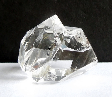 Shows natural water clear Herkimer crystal is.