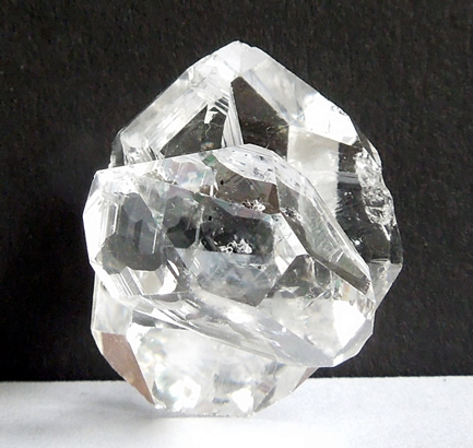 A perpendicular twin crystal.