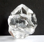 Pictures of a natural Herkimer doublet or twin crystal