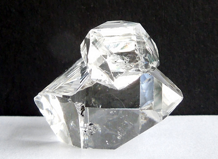 Picture show perpendicular angle of the twin crystal.