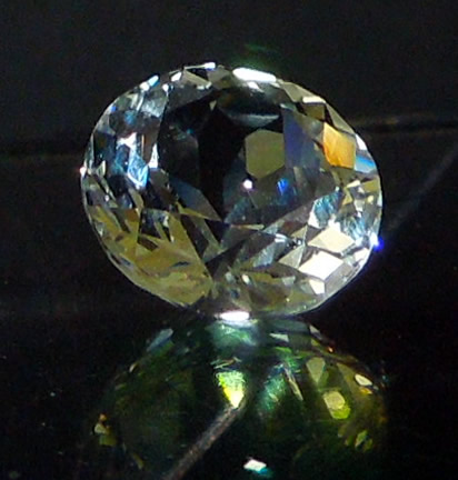 A machine faceted Herkimer with excellent clarity.