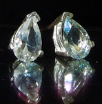 Pear or tear drop diamond earrings.