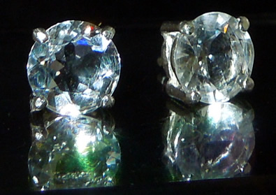Brilliant Round Cut Herkimer Diamond Ear Studs