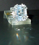 Emerald cut crystal cocktail ring.