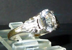 Faceted Herkimer Diamond Ring