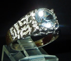 Men's 2 ct. Herkimer Diamond ring.