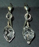 Playful set of Herkimer Diamond earrings.