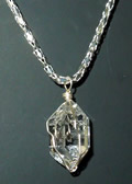 Herkimer Diamond with Sterling Silver Pendant