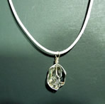 Clear Herkimer quartz crystal necklace.
